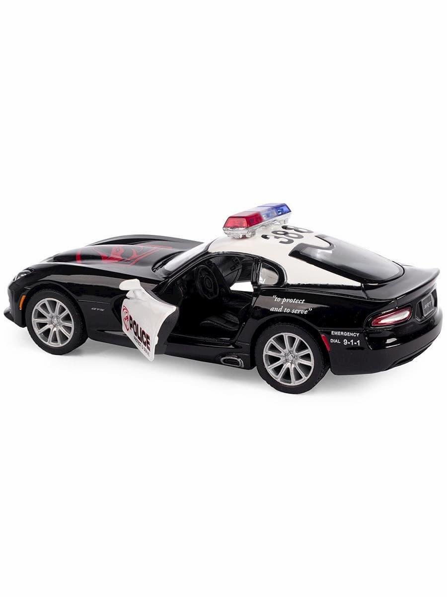 Металлическая машинка Kinsmart 1:36 «2013 SRT Viper GTS (Police)» KT5363WP, инерционная, в коробке