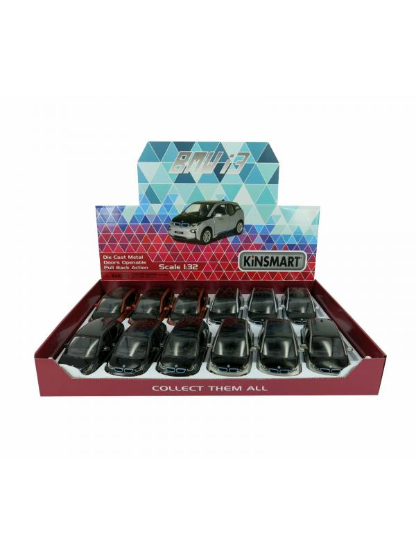 Металлическая машинка Kinsmart 1:38 «BMW i3» KT5380D, инерционная / Микс