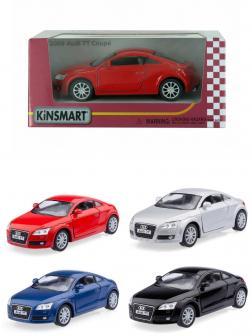 Машинка металлическая Kinsmart 1:32 «2008 Audi TT Coupe» KT5335W инерционная в коробке / Микс