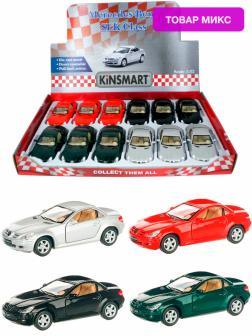 Металлическая машинка Kinsmart 1:32 «Mercedes-Benz SLK Class» KT5095D, инерционная / Микс
