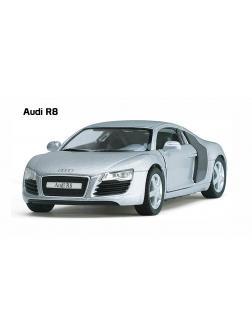 Инерционная металлическая машинка Kinsmart «Audi R8» 1:36 / KT5315W в инд. коробке