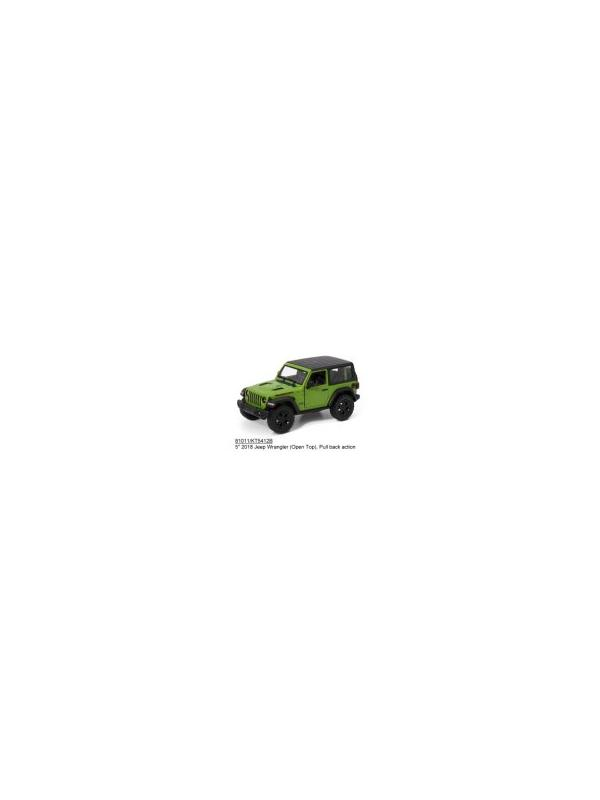 Металлическая машинка Kinsmart 1:34 «2018 Jeep Wrangler (Жесткий верх)» KT5412DB, инерционный / Микс