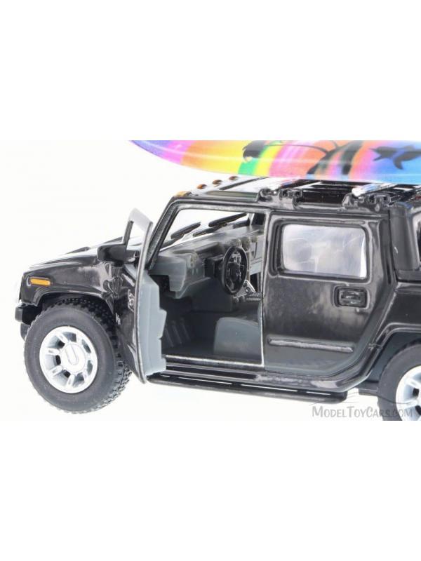 Металлическая машинка Kinsmart 1:40 «2005 Hummer H2 SUT Серфинг» KT5097S инерционная / Микс