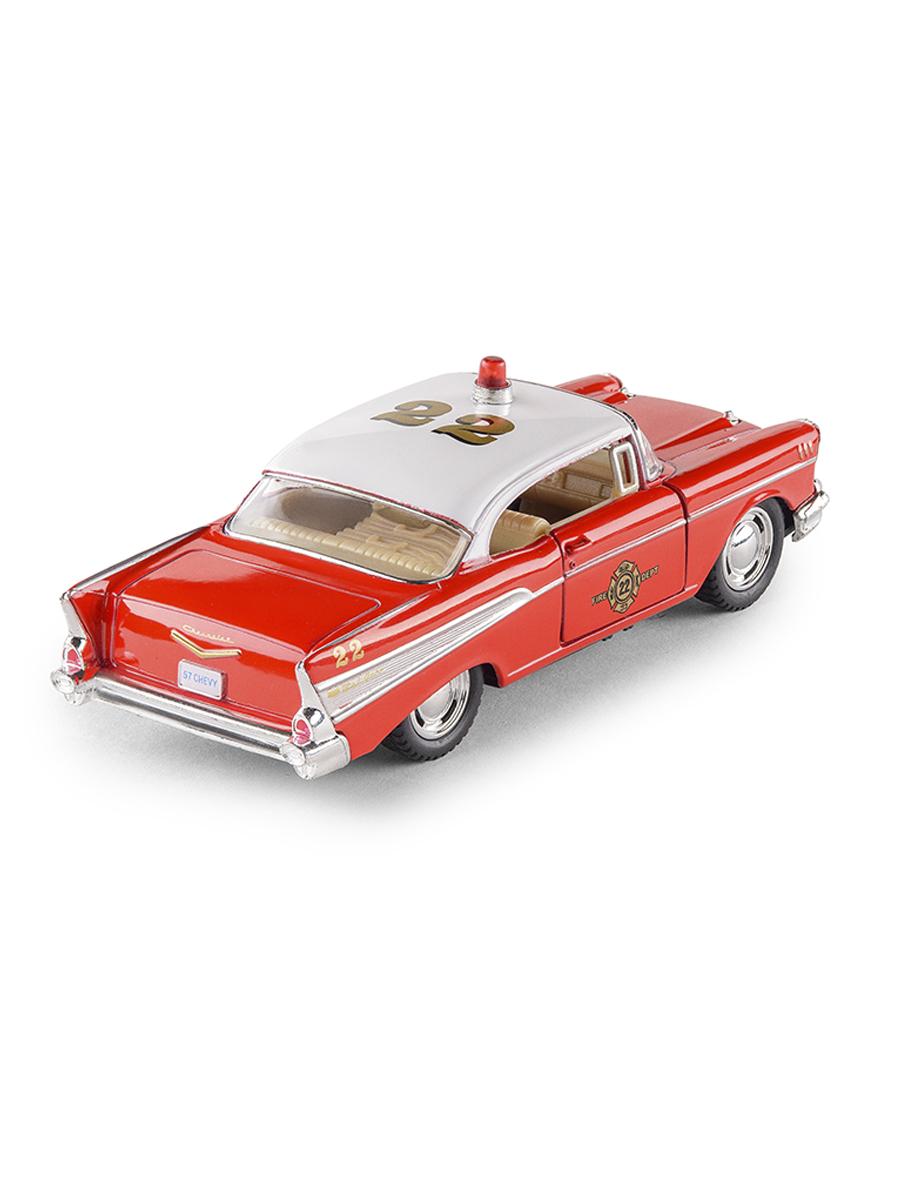 Металлическая машинка Kinsmart 1:40 «1957 Chevrolet Bel Air (Fire Chief)» KT5325D, инерционная