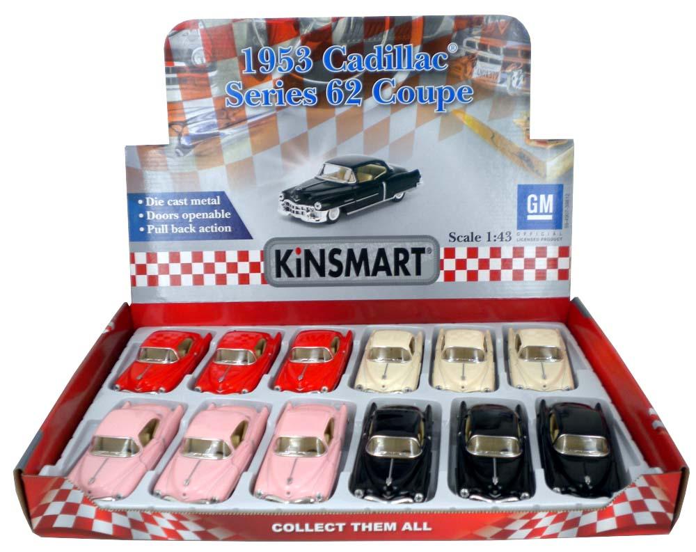 Металлическая машинка Kinsmart» 1:43 «1953 Cadillac Series 62 Coupe» KT5339D, инерционная / Микс