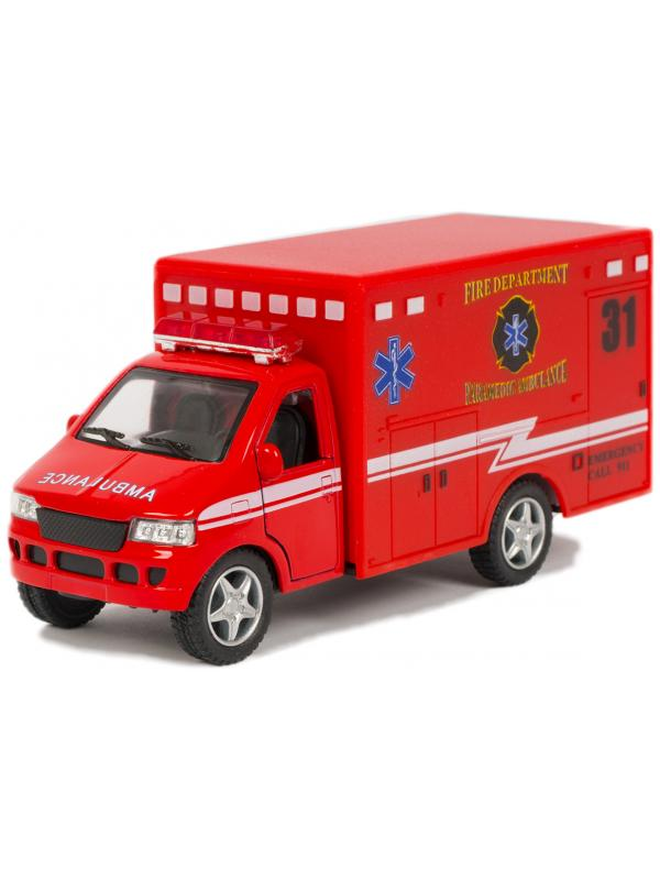 Металлическая машинка KinsFun 1:43 «Rescue Team» KS5259W, инерционная, в коробке / Микс
