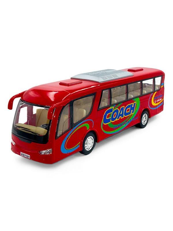 Машинка  металлическая Kinsmart 1:32 «Туристический автобус Coach» KinsFun KS7101D, инерционный