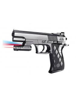 Пистолет пневматический с фонариком и инфракрасным прицелом, в коробке 2122-A2-BB