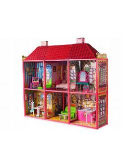Большой двухэтажный кукольный домик для кукол 29см / 6983