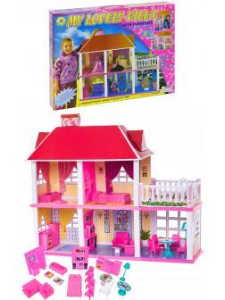Кукольный домик с аксессуарами для кукол 29см,128+ деталей / 6980
