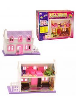 Домик для кукол с мебелью My Little Doll House (34 предмета) / 933F