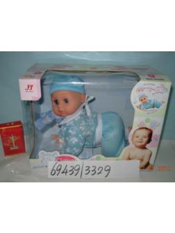 Интерактивная кукла «Clever Baby» 3329-3 / ползает, говорит