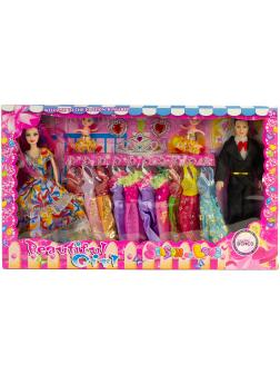 Игровой набор кукол 4 шт. с аксессуарами и платьями 168AB-11 / Beautiful Girl