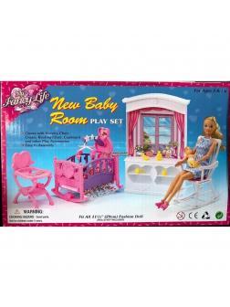 Мебель для кукол Gloria, Детская комната 24022 / Play Set