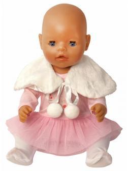 Набор одежды для куклы или пупса 38-43 см «Baby Toby» 77000-103 / платьице с ползунками и меховой накидкой