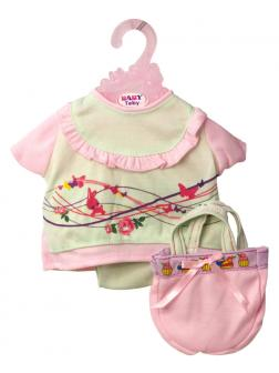 Одежда для интерактивной куклы 38-43 см «Baby Toby» T8147 / кофточка, сумочка