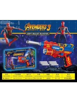 Бластер Супергерой стреляет мягкими пульками 6шт. SB443-1