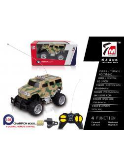 Машинка на радиоуправлении 1:24 «Военный джип Бигфут» 17см с зарядным устройством 7M-940