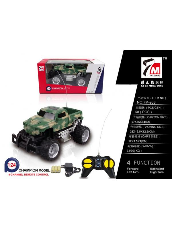 Машинка на радиоуправлении 1:24 «Военный пикап Бигфут» 17см с зарядным устройством 7M-938