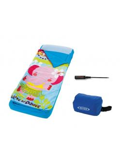 Детский надувной матрас Intex 66802 «Hula Elly Kidz Airbed» со спальным мешком и насосом