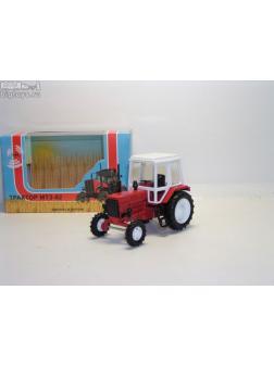 1:43 трактор МТЗ-82 (металл с пласт.кабиной, красный)