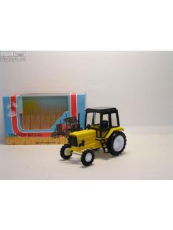 1:43 трактор МТЗ-82 (пластмасса, цвет: желтый)