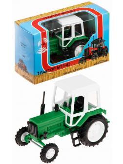 Игрушечный трактор 1:43 «Belarus МТЗ-82» 160004 Зеленый / Белый