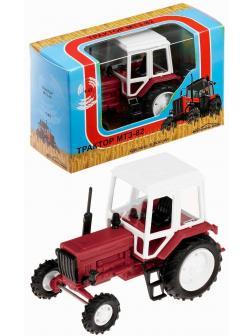Игрушечный трактор 1:43 «Беларусь МТЗ-82» 160002 Красный / Белый