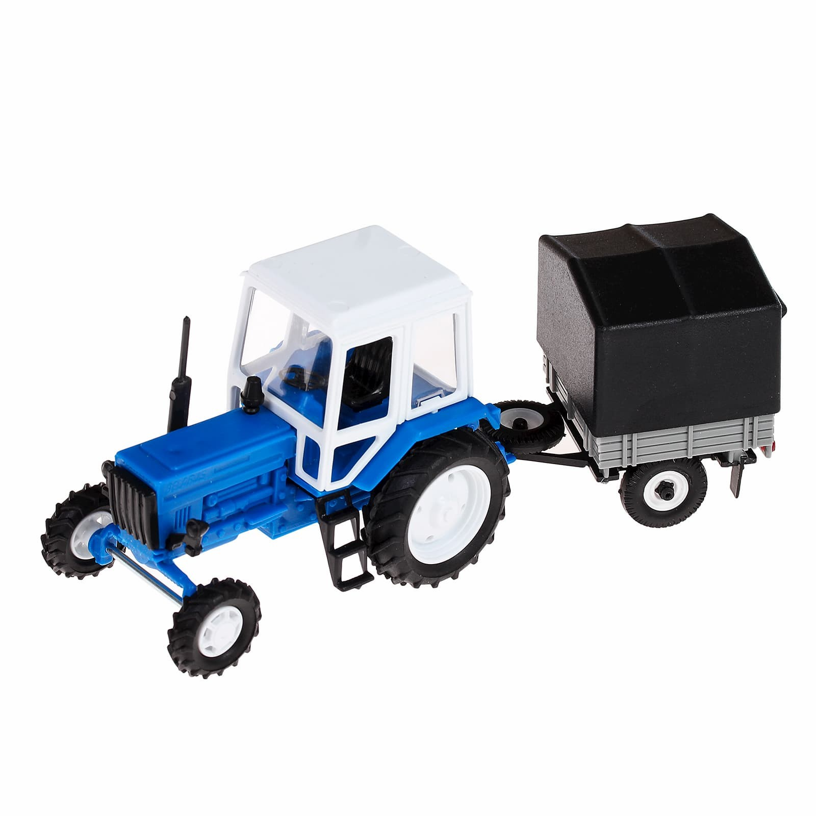 Игрушечный трактор с прицепом 1:43 «Беларусь МТЗ-82