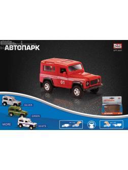 Металлическая машинка Play Smart 1:32 «Land Rover Defender: Служебный» 11 см. 6441 Автопарк / Микс