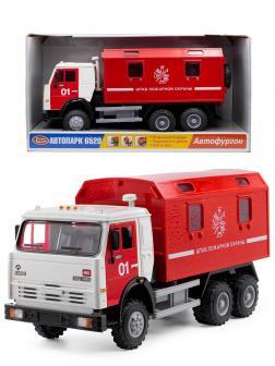 Грузовик инерционный Play Smart 1:24 «Камаз: Штаб пожарной охраны» 9119-B Автопарк, свет и звук