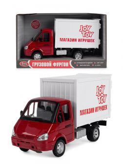 Машина инерционная Play Smart 1:27 «ГАЗель Грузовой фургон: Магазин игрушек» 21 см. 9077-F, свет и звук