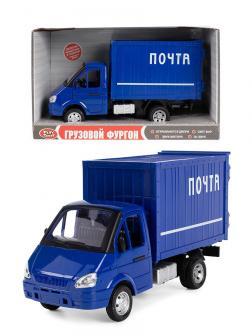 Машина инерционная Play Smart 1:27 «ГАЗель Грузовой фургон: Почта» 21 см. 9077-D, свет и звук