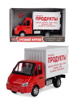 Машина инерционная Play Smart 1:27 «ГАЗель Грузовой фургон: Продукты» 21 см. 9077-A, свет и звук
