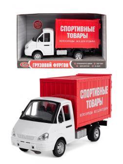Машина инерционная Play Smart 1:27 «ГАЗель Грузовой фургон: Спортивные товары» 21 см. 9077-С Автопарк, свет и звук