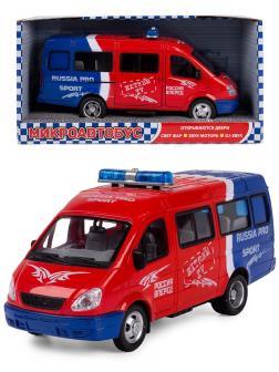 Машинка инерционная Play Smart 1:27 «ГАЗель 3221 Спорт» 20 см. 9098-B Автопарк, свет и звук
