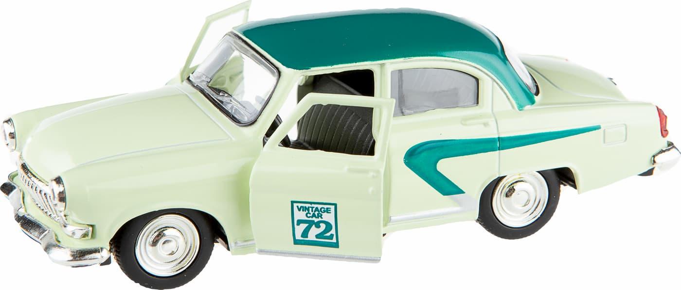 Металлическая машина Play Smart 1:43 «ГАЗ-21 Волга: Vintage Car» 6405-A, Автопарк, инерционная