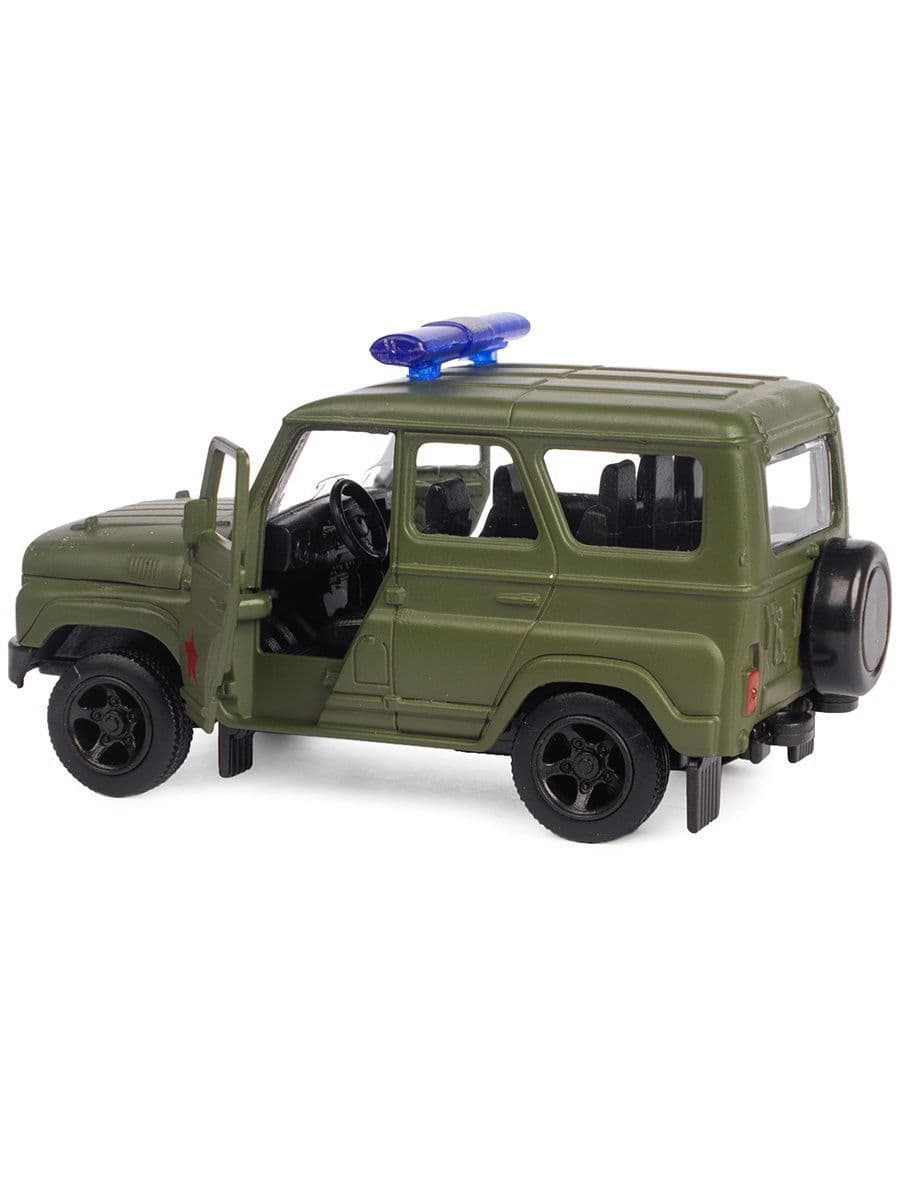 Металлическая машинка Play Smart 1:50 «Джип УАЗ Hunter Военный» 10 см. 6401-A Автопарк, инерционная