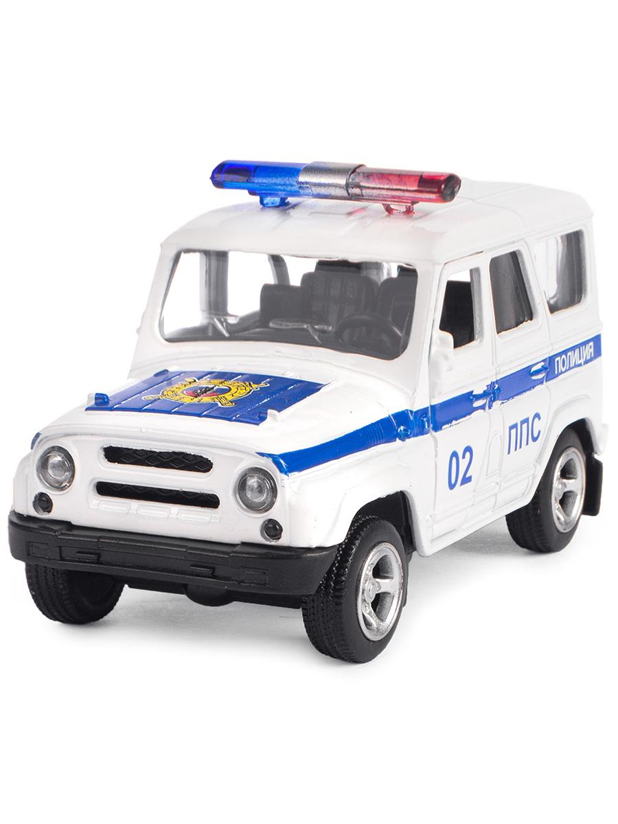 Металлическая машинка Play Smart 1:50 «Джип УАЗ Hunter Полиция» 10 см. 6401-E Автопарк, инерционная