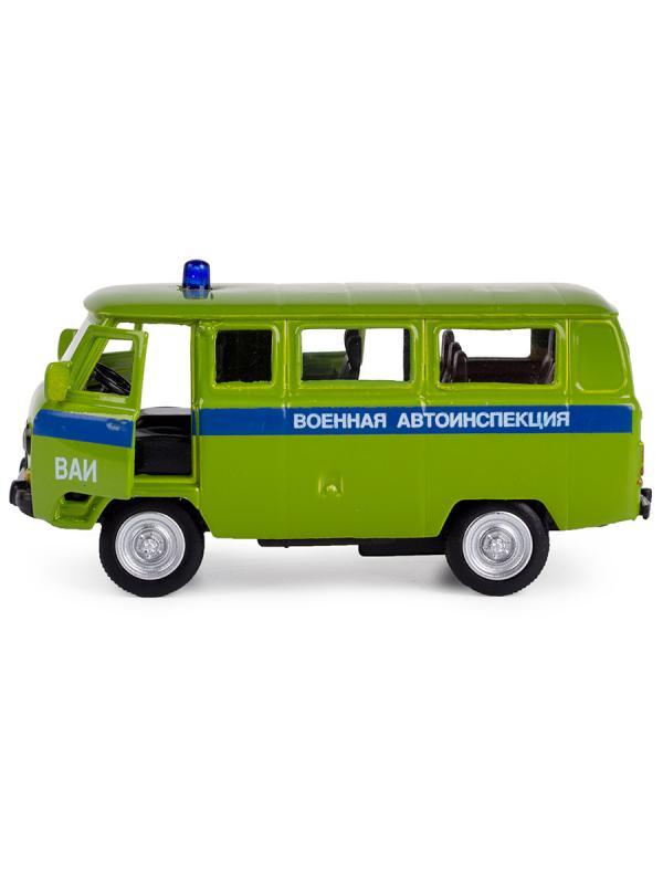 Металлическая машинка Play Smart 1:50 «Микроавтобус УАЗ-452 Военная автоинспекция» 10 см. 6402-E, инерционный