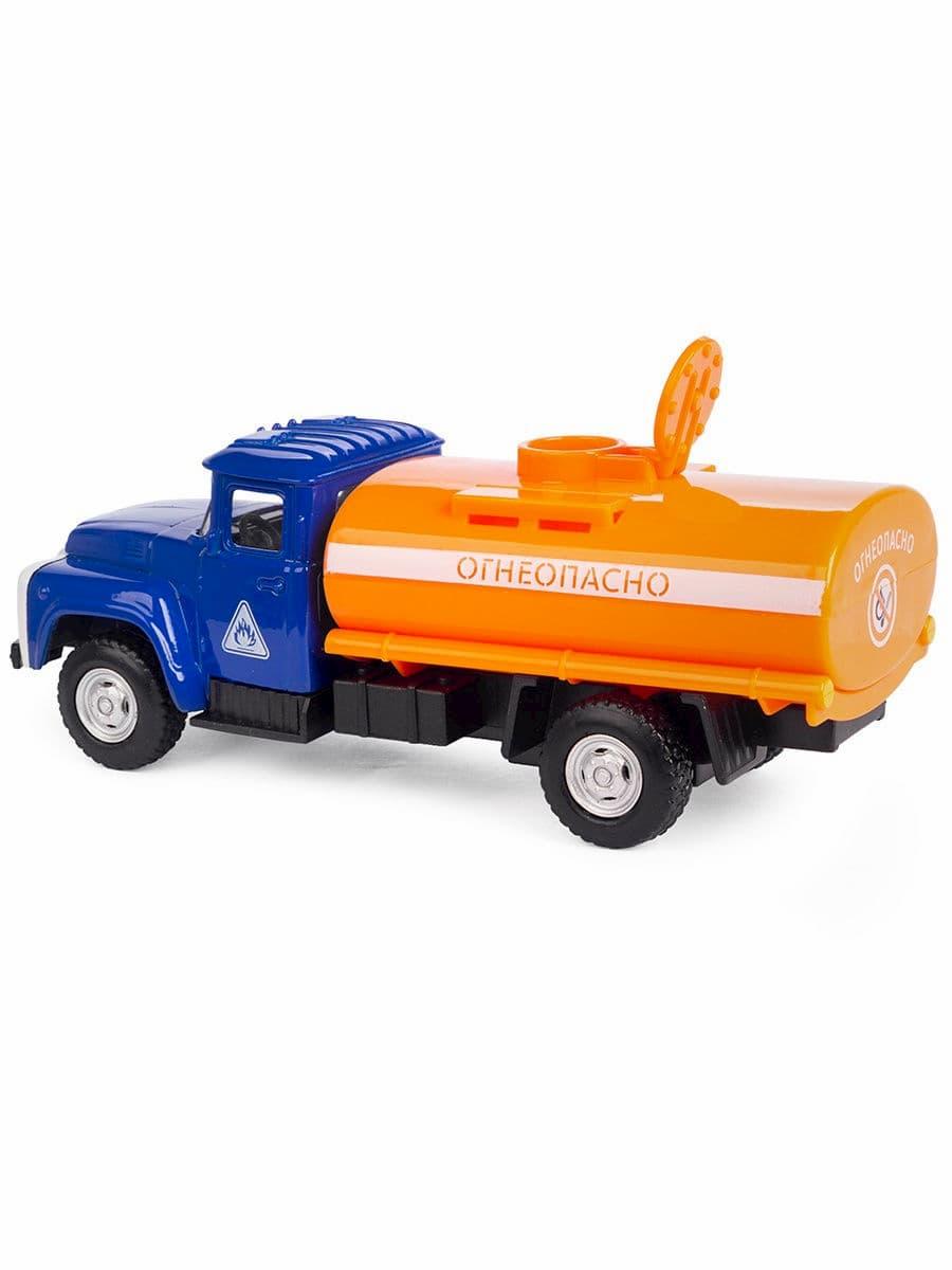 Металлическая машинка Play Smart 1:52 «Зил 130 Бензовоз» 12 см. 6520-A Автопарк