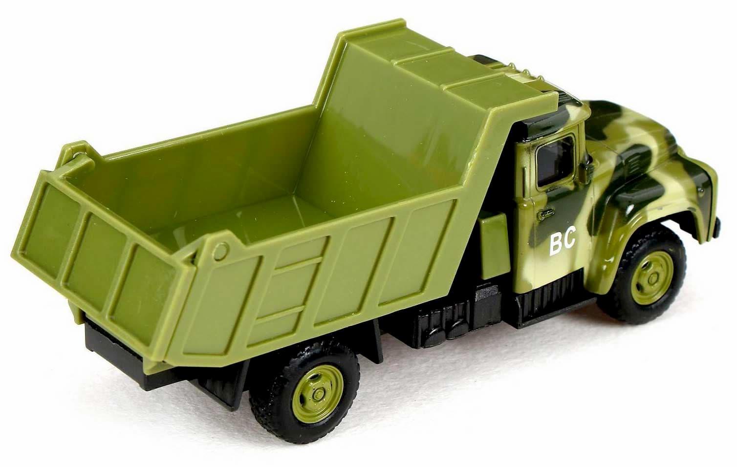 Машинка металлическая Play Smart 1:52 «Самосвал ЗИЛ Военный» 15 см. 6517-A Автопарк, инерционная