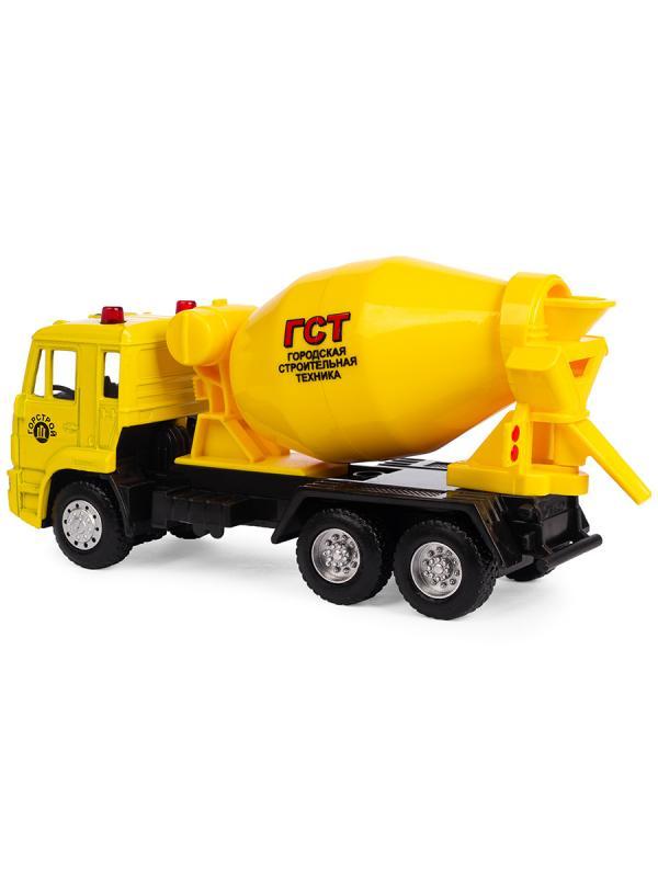 Металлическая машинка Play Smart 1:54 «Камаз Бетоновоз» 15 см. 6516-A Автопарк / Желтый