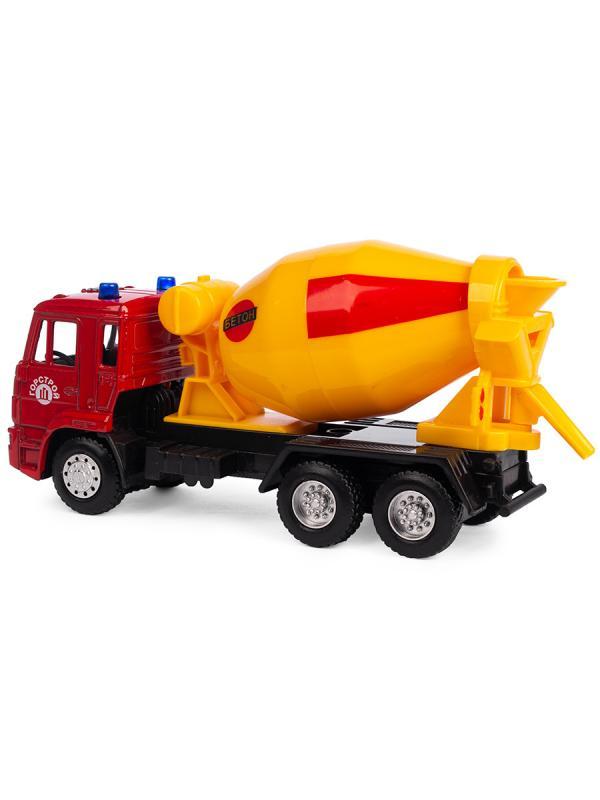 Металлическая машинка Play Smart 1:54 «Камаз Бетоновоз» 15 см. 6516-B Автопарк / Красный