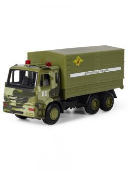 Грузовик инерционный Play Smart 1:54 «Камаз Военный» 6513-B Автопарк