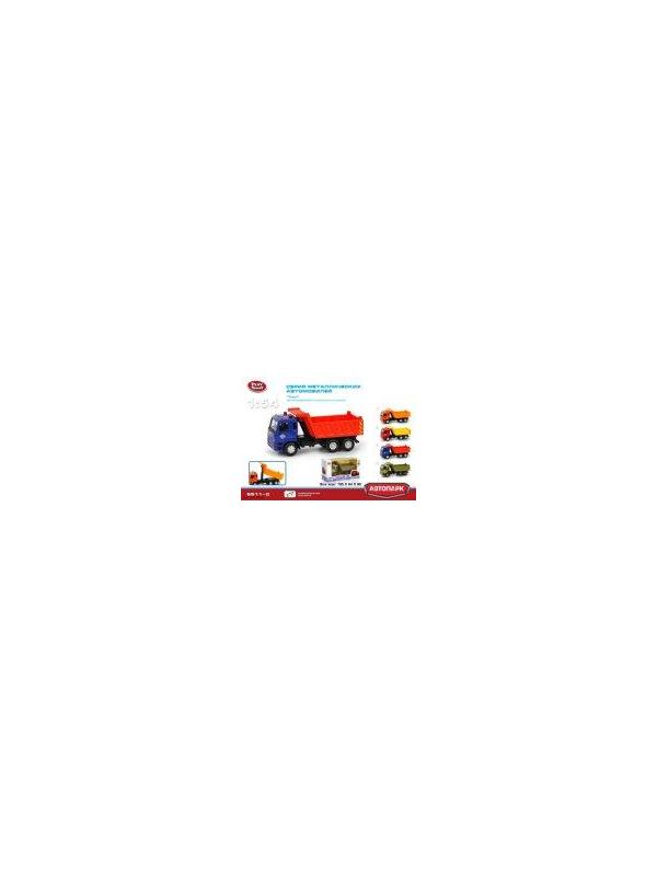 Грузовик металлический Play Smart 1:54 «Самосвал Камаз ГорСтрой» 15 см. 6511-C Автопарк инерционный / Красно-синий