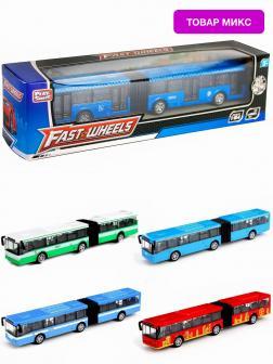 Инерционный автобус-гармошка Play Smart 1:64 «ЛиАЗ-6213» 18 см. 6576W Автопарк / Микс