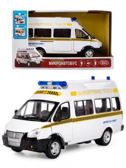Инерционная машинка Play Smart 1:29 «ГАЗ-27057 Маршрутное такси» 19 см. 9707-D Микроавтобус, свет и звук