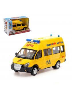 Инерционная машинка Play Smart 1:29 «ГАЗ-27057 Школьный автобус» 19 см. 9707-C Микроавтобус, свет и звук