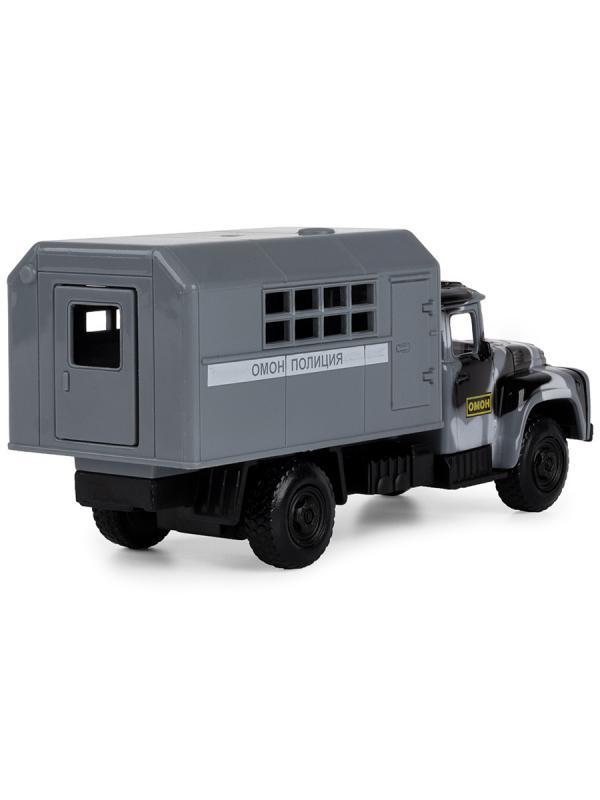 Грузовик инерционный Play Smart 1:34 «ЗИЛ-130 Фургон ОМОН» 21 см 9710-D Автопарк, свет и звук